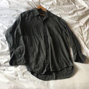 Eddie Bauer black and grey flannel (tall L)
